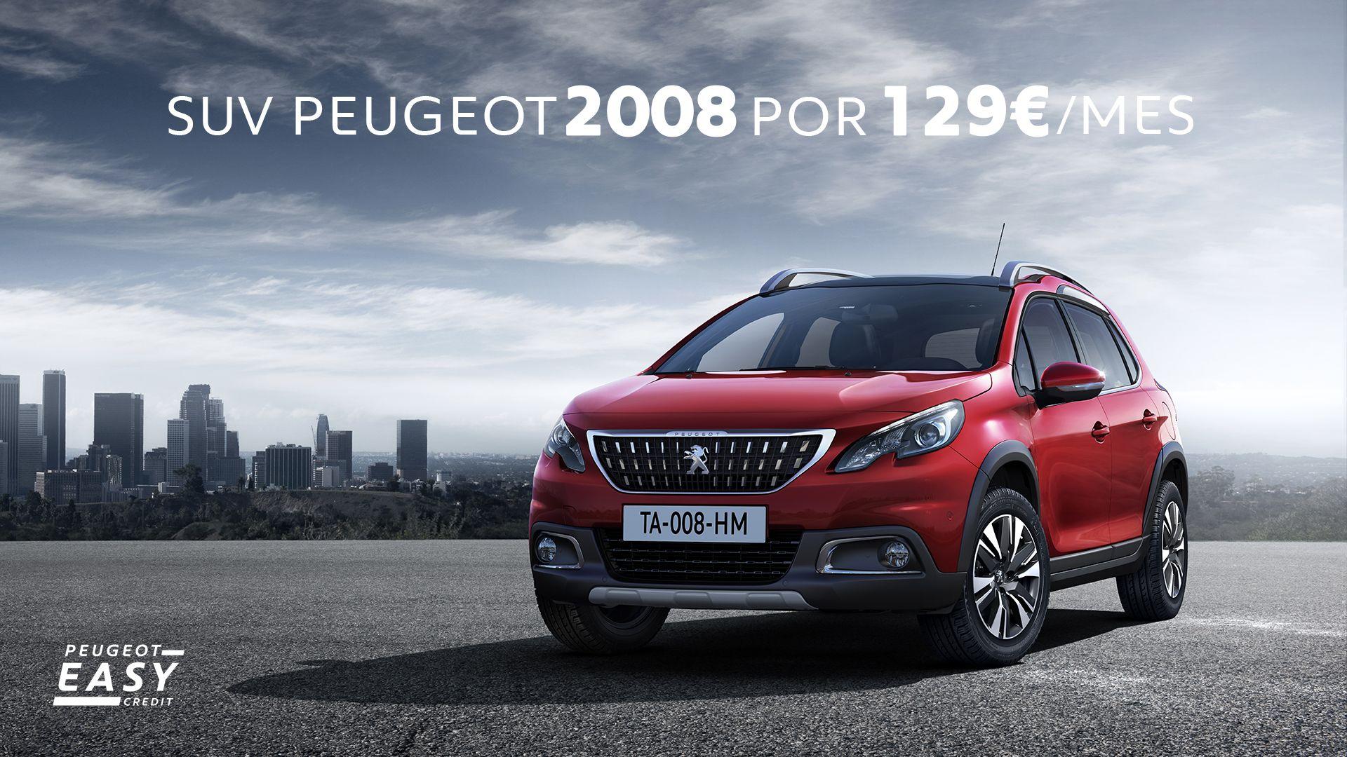 Estrena un Peugeot 2008 con Navegador y Mirror Screen por sólo 129€/mes