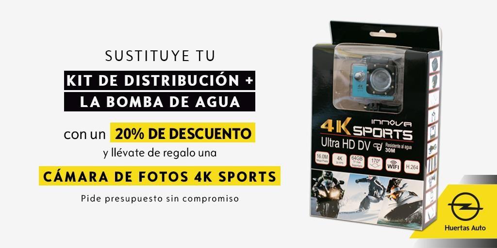 Sustituye tu Kit de distribución + Bomba de agua con un 20% de descuento y llévate de regalo una cámara de fotos 4K SPORTS