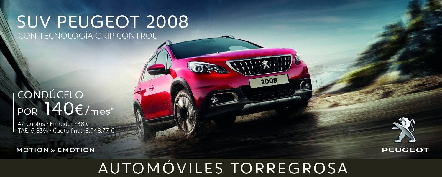 CONDUCE TU SUV PEUGEOT 2008 POR 140 €/mes