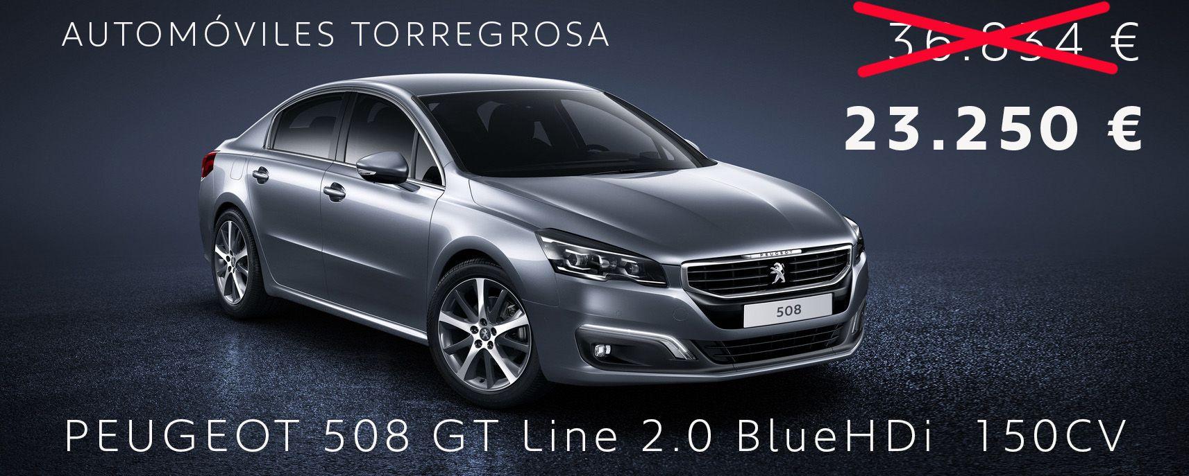 PEUGEOT 508 GT LINE POR 23.250 € CON 13.584€ DE DESCUENTO
