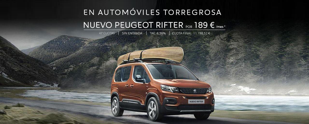 EN AUTOMÓVILES TORREGROSA PEUGEOT RIFTER POR 189 € / MES