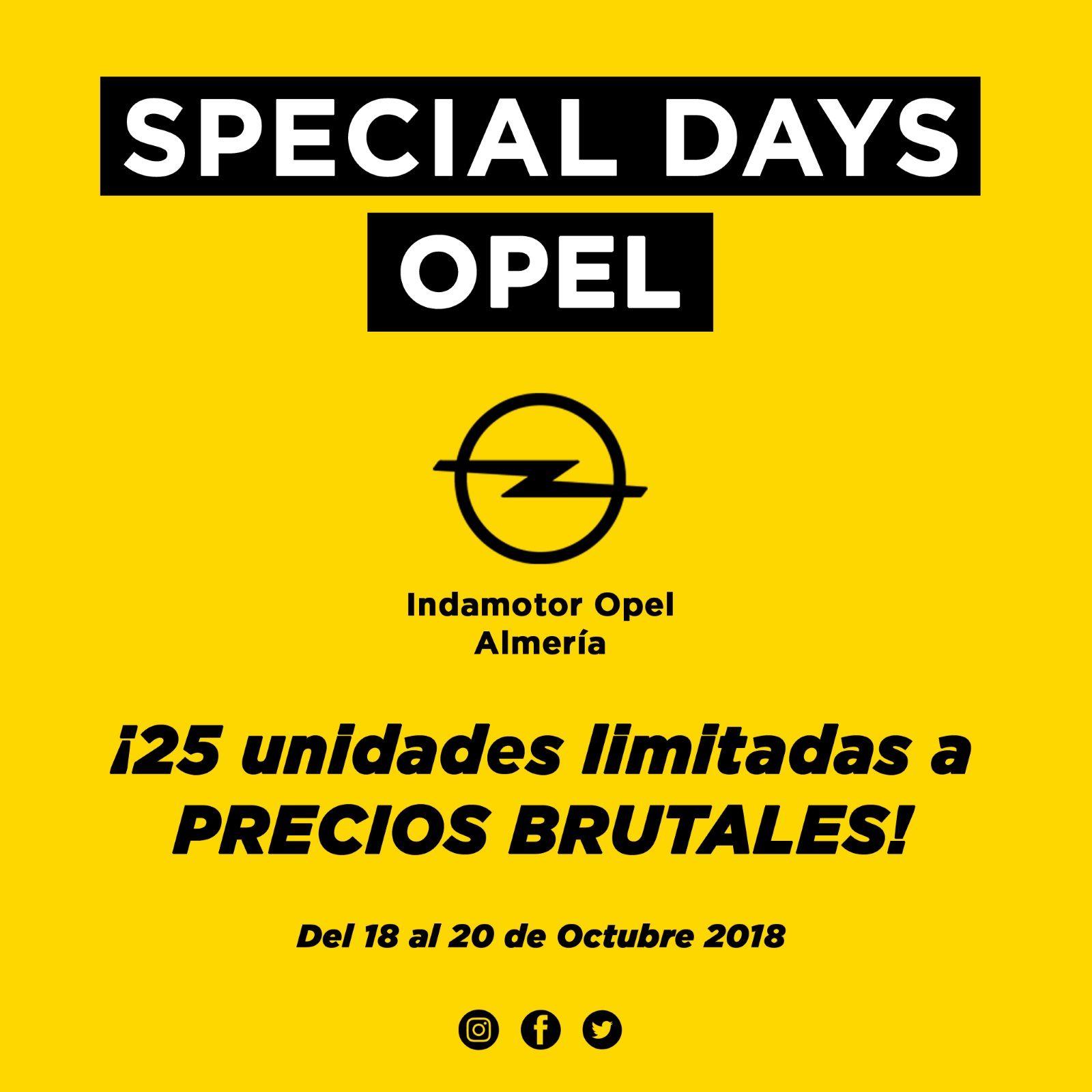 SPECIAL DAYS. DEL 18 AL 20 DE OCTUBRE
