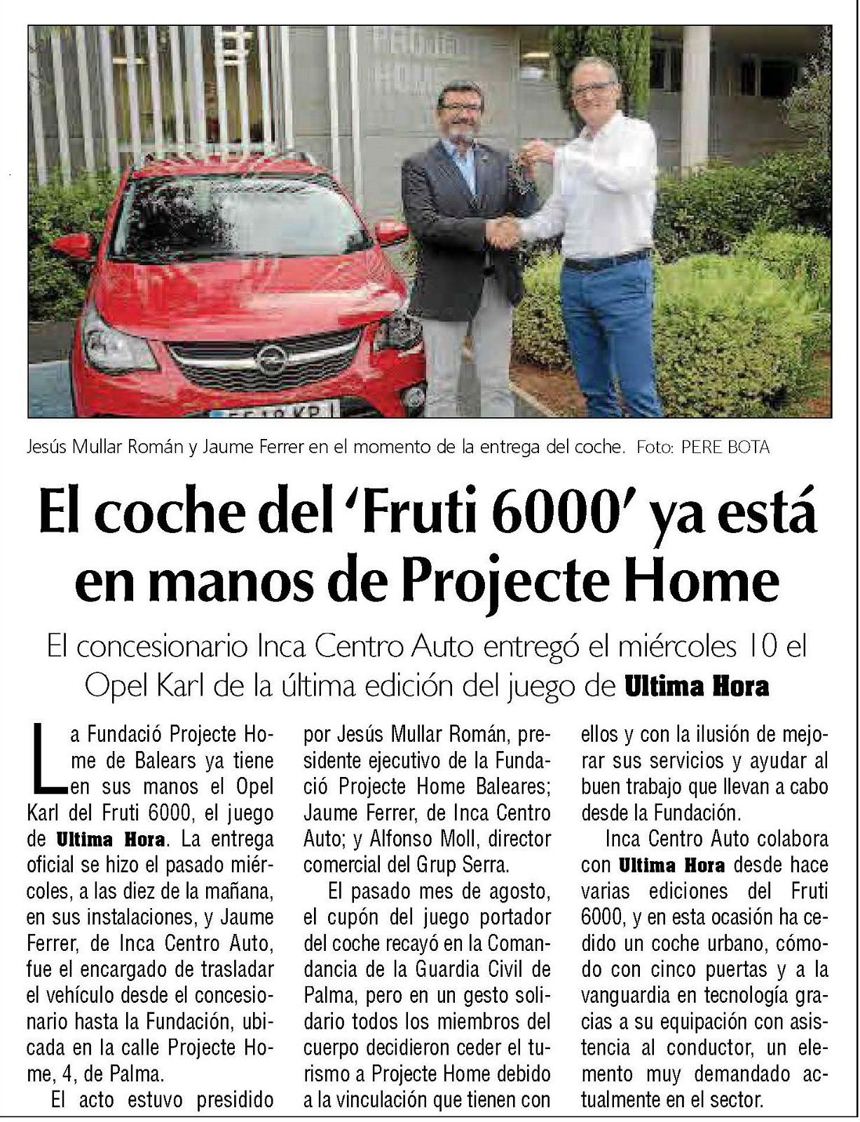 EL OPEL KARL ROCKS DEL FRUTI600 YA ESTA EN MANOS DE PROJECTE HOME