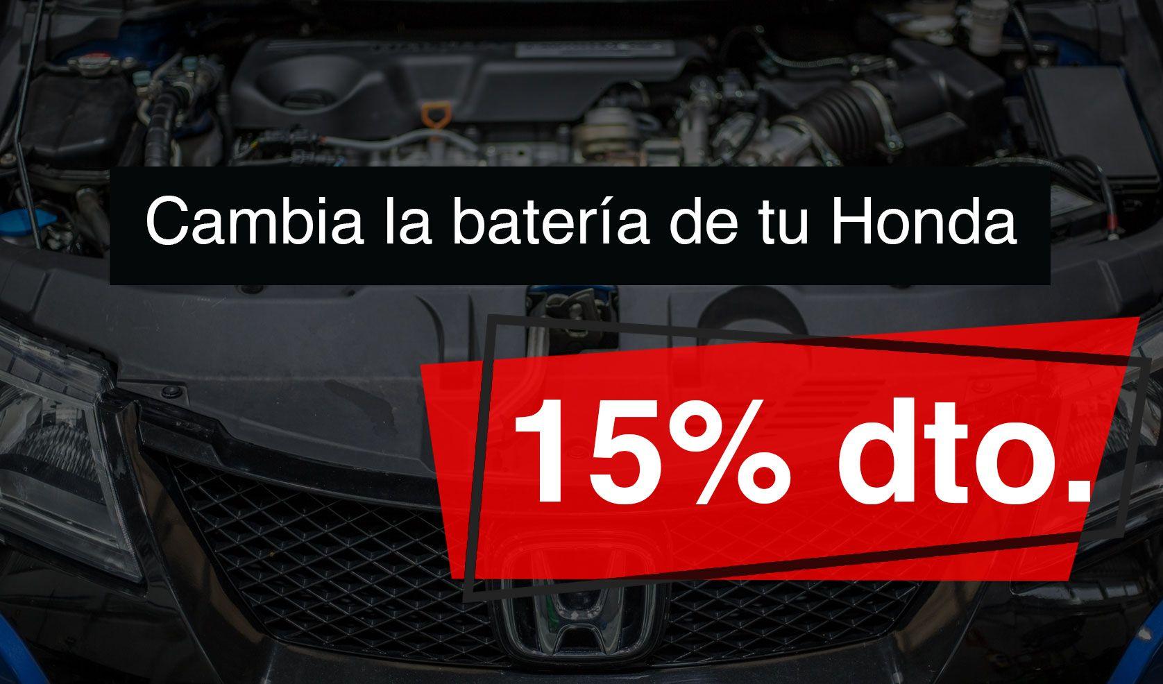 15% de dto. al cambiar la batería de su Honda
