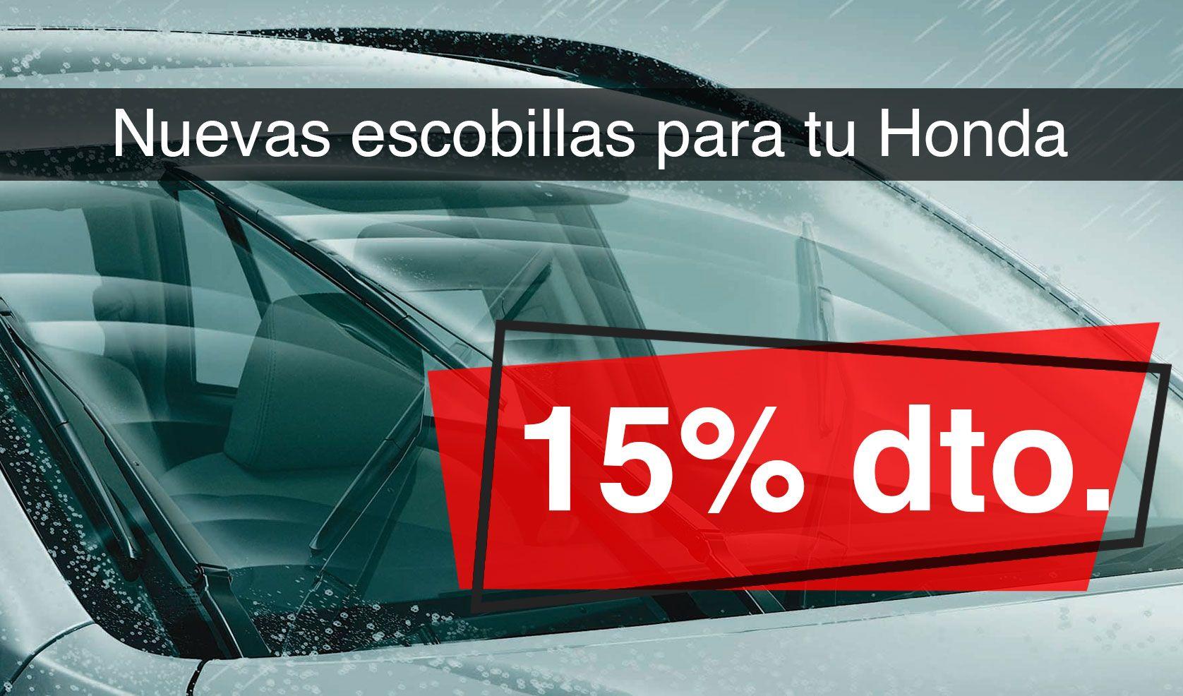 Las nuevas escobillas para tu Honda, con un 15% de descuento