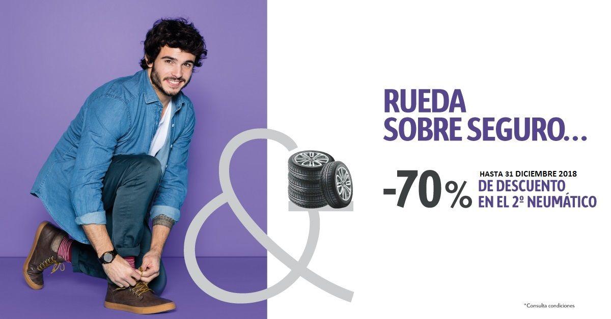 PROMO 70% DCTO por la compra de tu segundo neumático!!