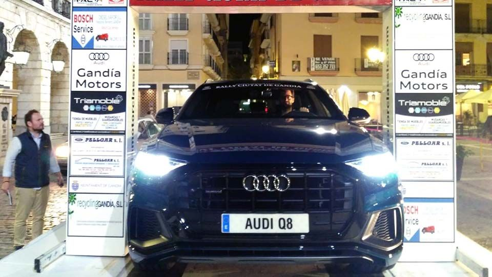 El nuevo Audi Q8 se presenta en sociedad en el transcurso del Rally Ciutat de Gandia