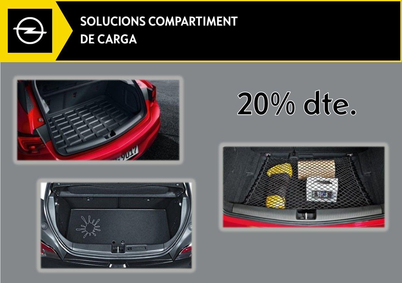 20% DTE. EN SOLUCIONS DEL COMPARTIMENT DE CÀRREGA.