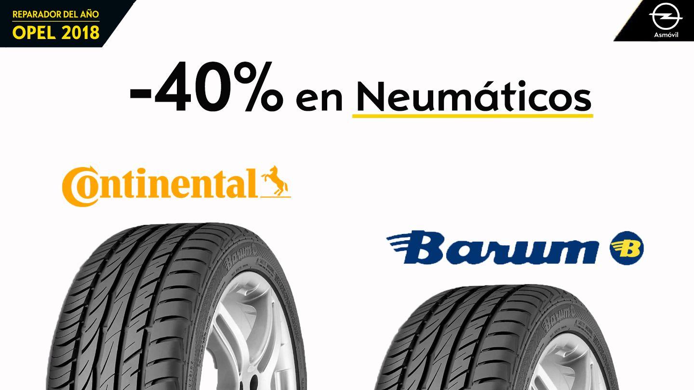 Oferta Especial del -40% en Neumáticos