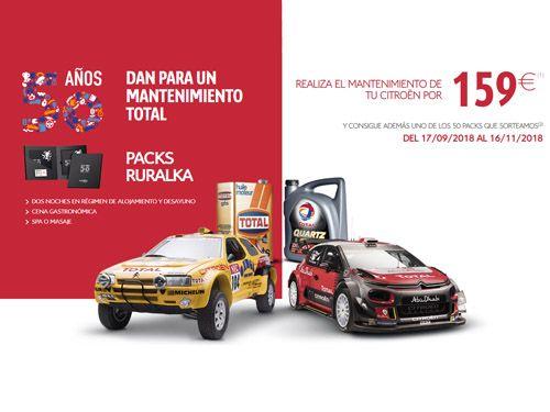 Haz el mantenimiento de tu Citroën por 159 EUROS y ¡ llévate uno de los 50 Packs que sorteamos !