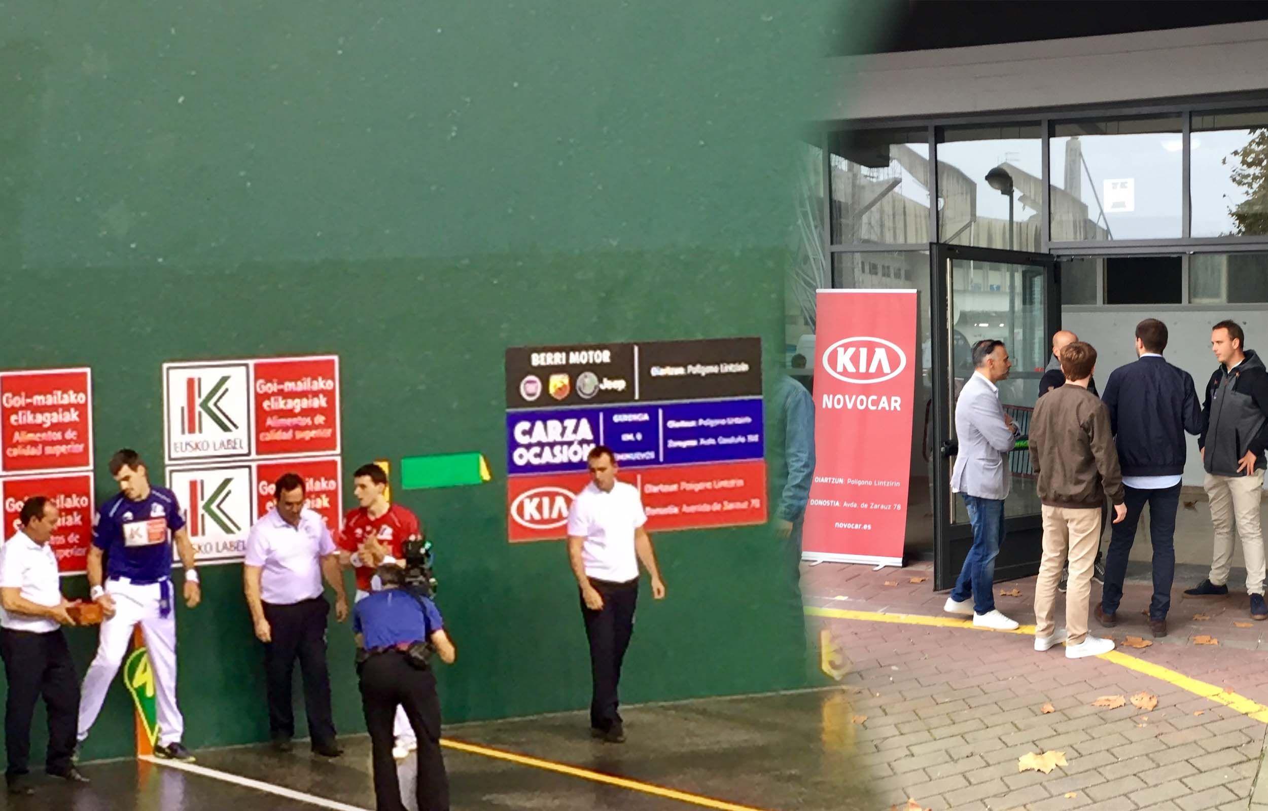 Kia Novocar con el campeonato de 4½ de Pelota a Mano