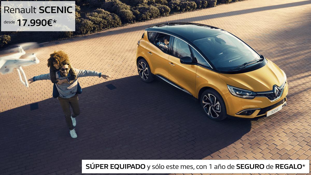 Renault SCENIC súper equipado y con 1 año de SEGURO de REGALO