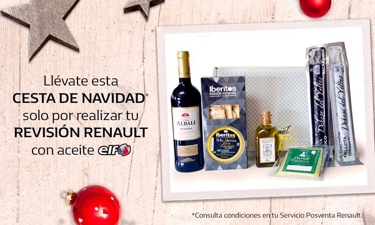 Llévate una CESTA DE NAVIDAD con tu REVISIÓN Renault