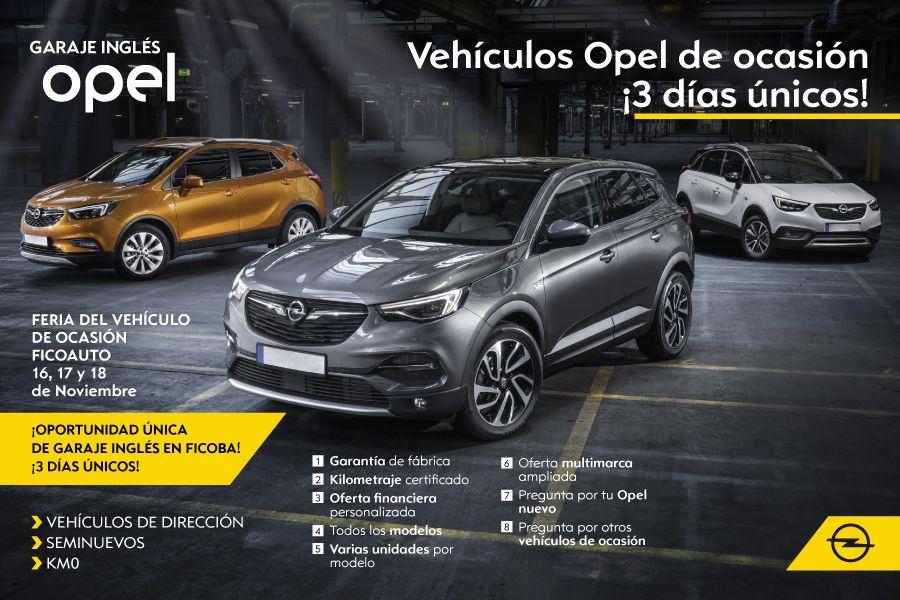 Adelántate a los 3 días únicos en Vehículos Opel de ocasión de FICOAUTO