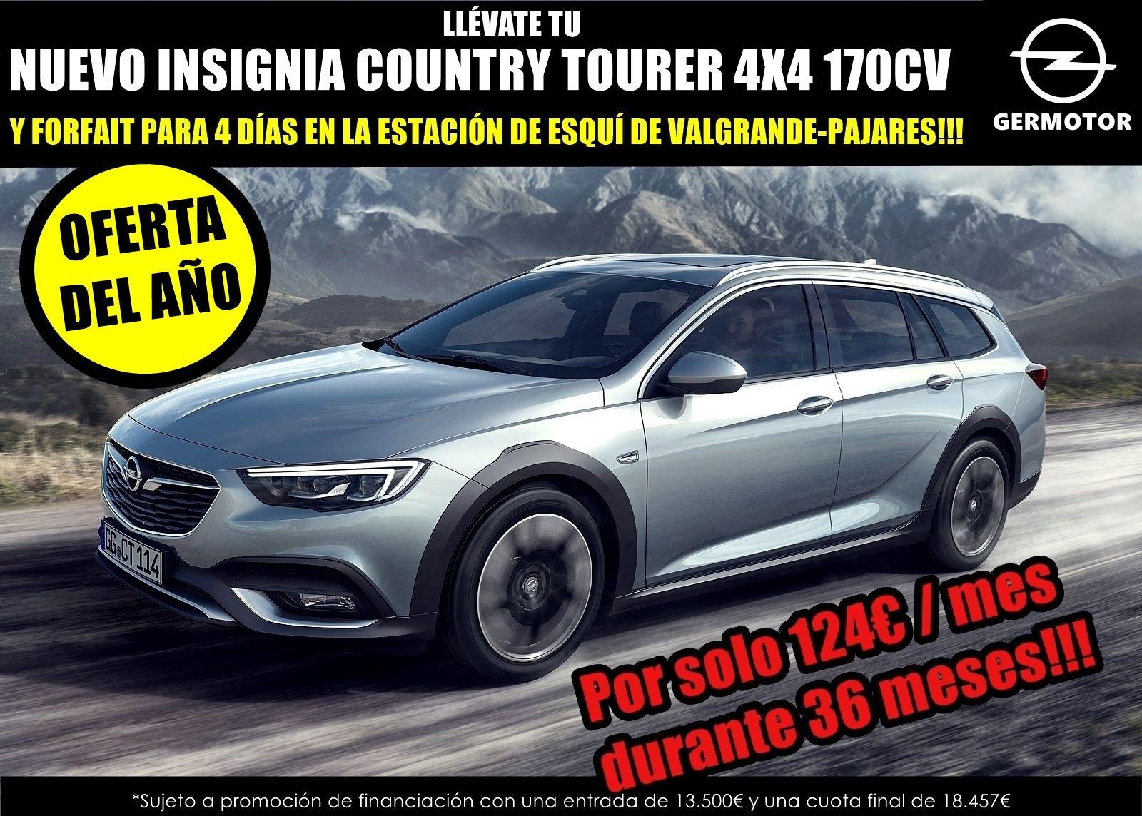 YA ESTÁ AQUÍ LA OFERTA DEL AÑO EN GERMOTOR!! TU NUEVO INSIGNIA COUNTRY TOURER 4X4 170CV!! POR SOLO 124€ AL MES!!