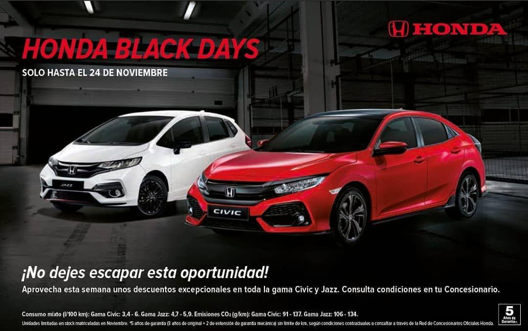 Aprovecha los Black Days y llévate un Civic Elegance Navi por 19.900€