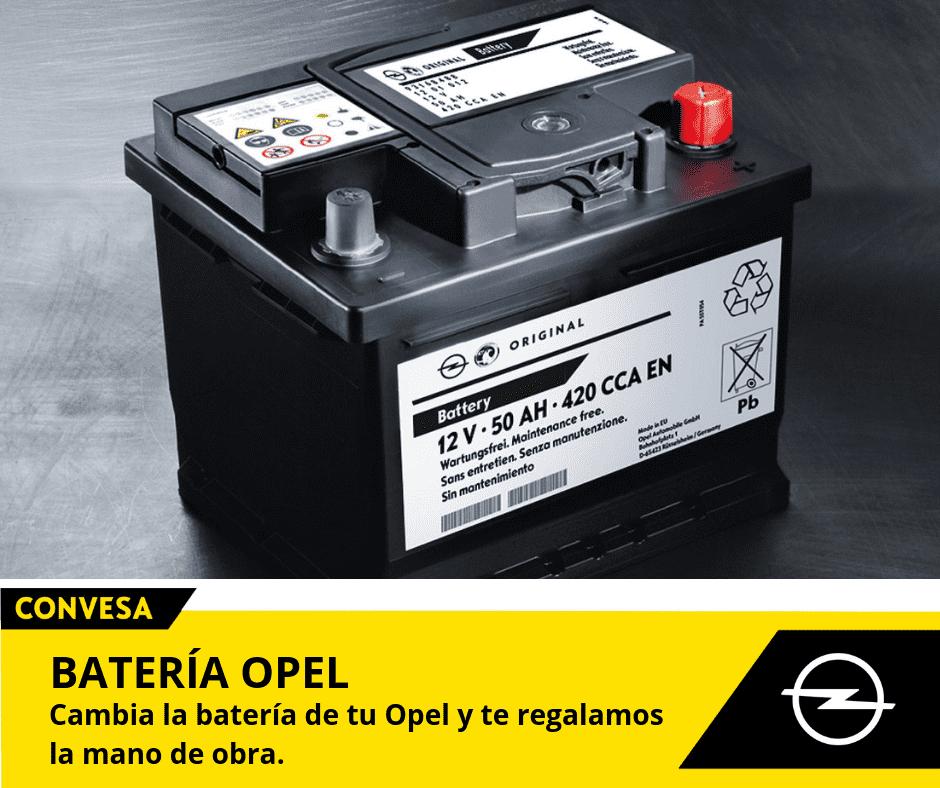 Cambia la batería de tu Opel