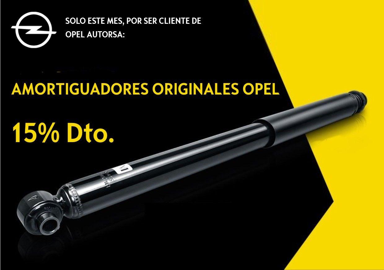 15% Dto.EN AMORTIGUADORES ORIGINALES OPEL