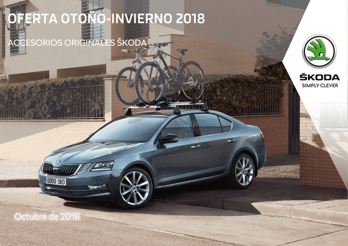 Ofertas de Accesorios Skoda Otoño-Invierno 2018