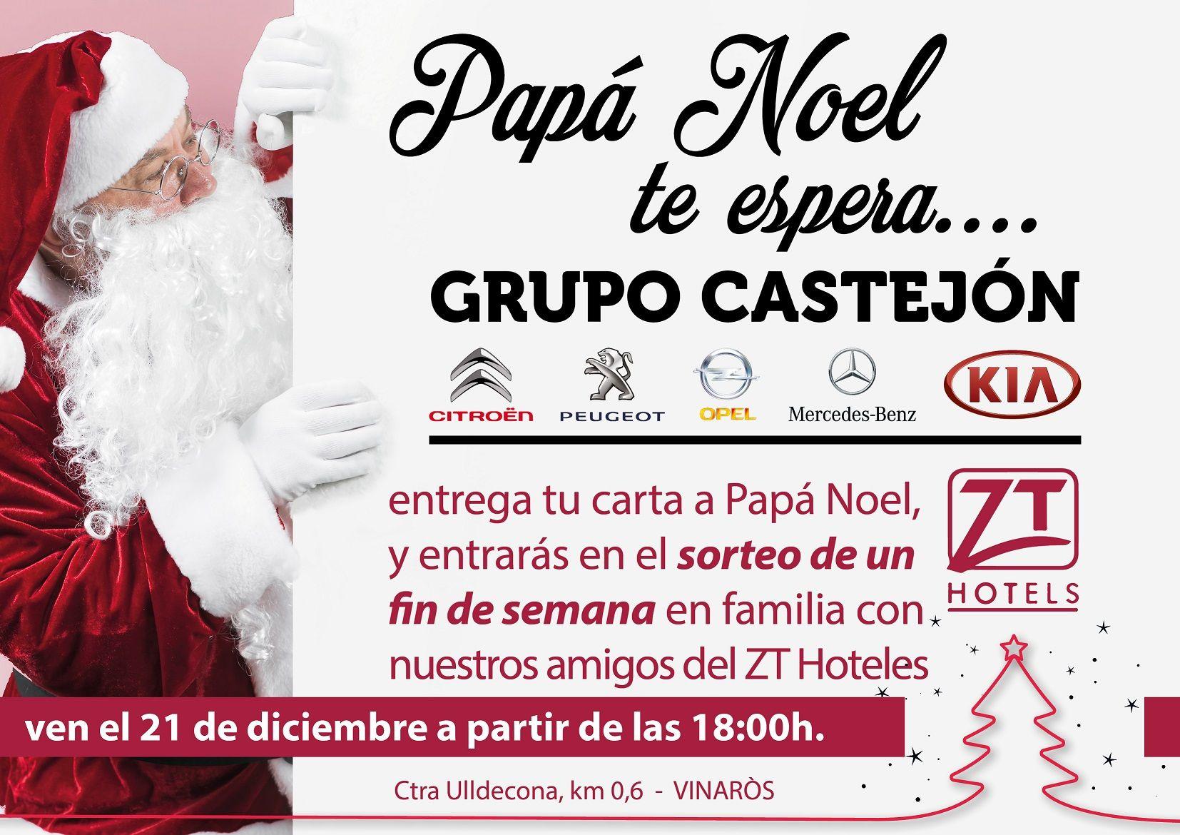 Papá Noel te espera en Grupo Castejón