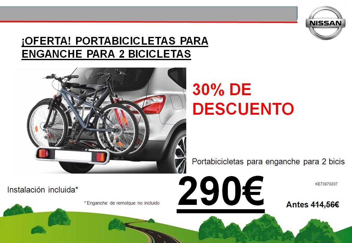 ¡OFERTA! PORTABICICLETAS PARA ENGANCHE PARA 2 BICICLETAS - 290€