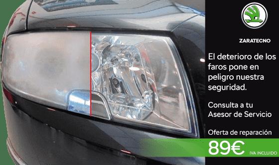 Reparación de faros por 89 euros