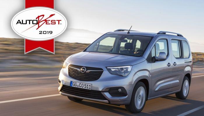 """El Opel Combo Life se lleva el premio AUTOBEST como la """"Mejor compra de coche en Europa 2019"""""""