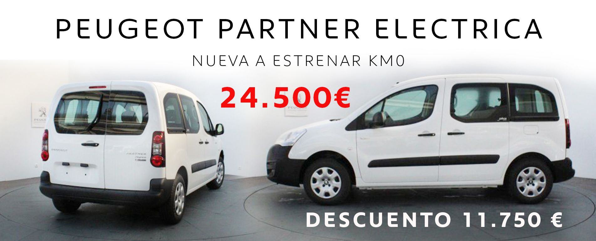 Peugeot Partner Eléctrica con 11.750 € de descuento