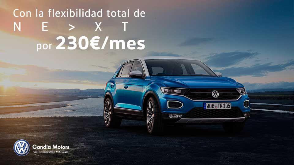 Nuevo T-Roc por 230€/mes*