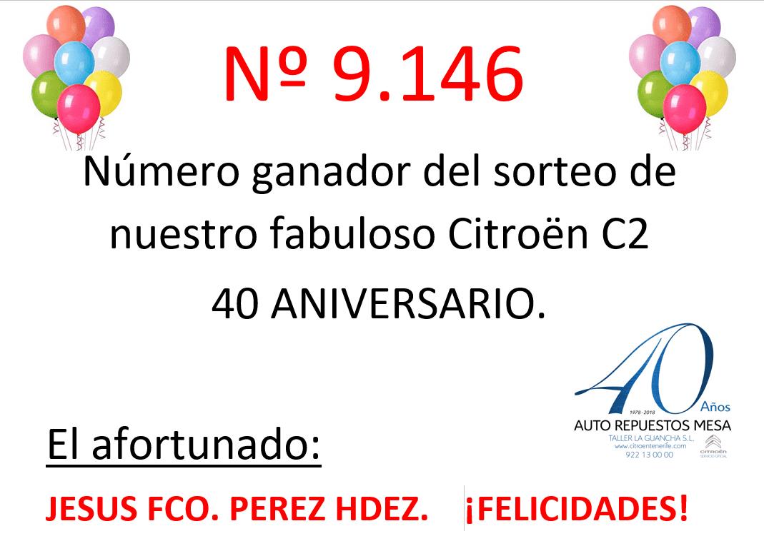 Ya tenemos afortunado para nuestro sorteo del citroen C2 40 Aniversario