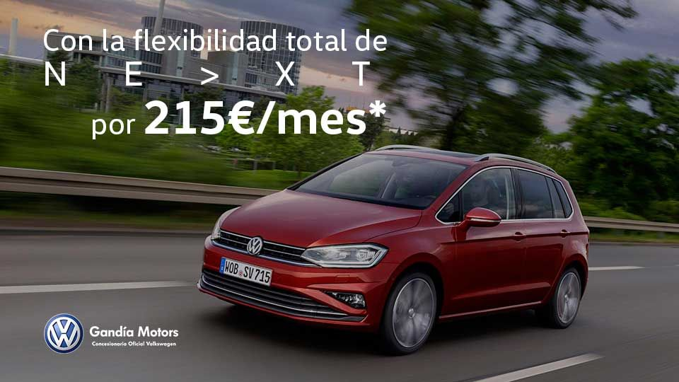 Nuevo Golf Sportsvan, con espacio para toda la familia por 215€/mes