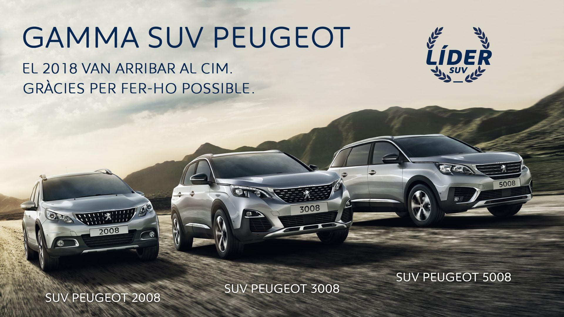 Peugeot tanca l'any com a líder del mercat SUV