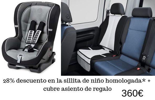 Silla de niño VW homologada + cubre asiento de regalo por 360€