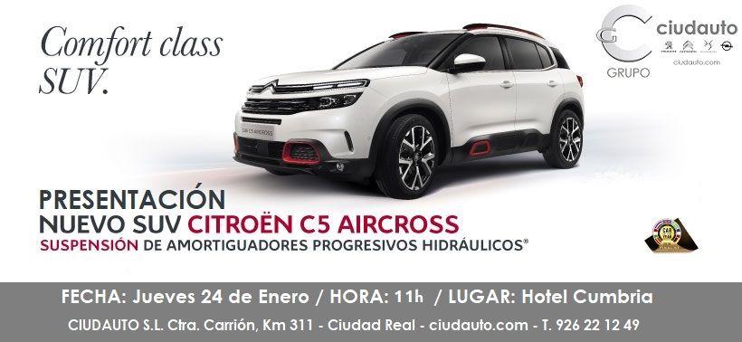 EXPERIMENTA EL CONFORT DEL NUEVO SUV CITROËN C5 AIRCROSS DE LA MANO DE CIUDAUTO