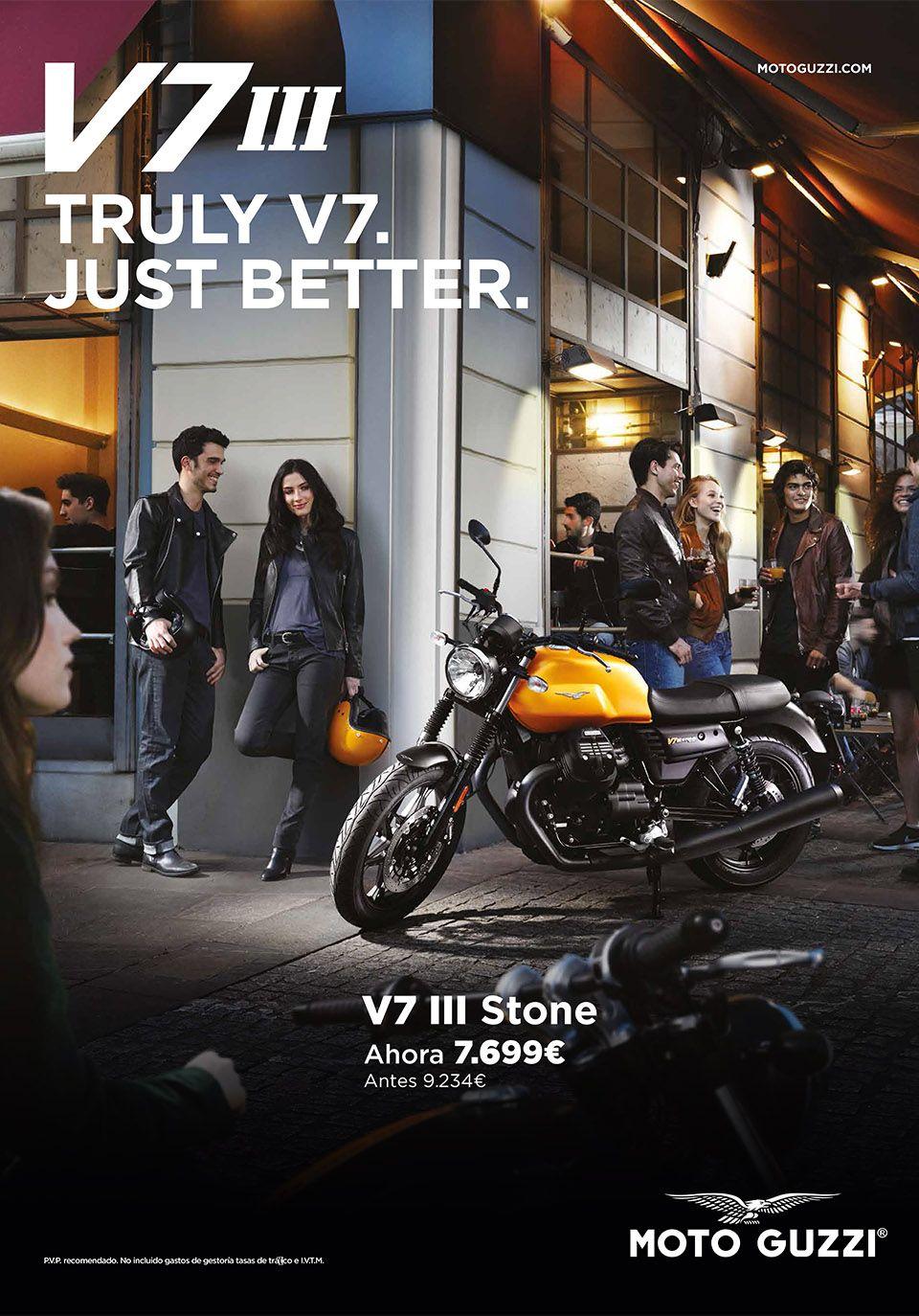 Un clásico a un precio único: Moto Guzzi V7 III Stone por sólo 7.699€