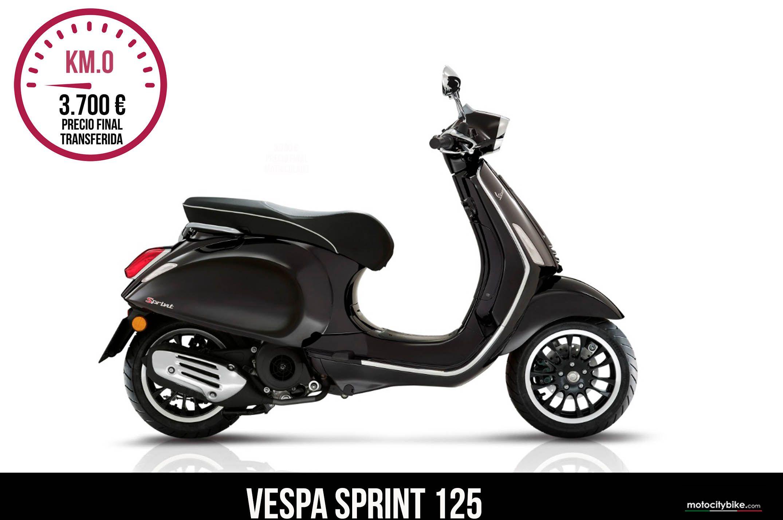 Vespa Sprint negra 125