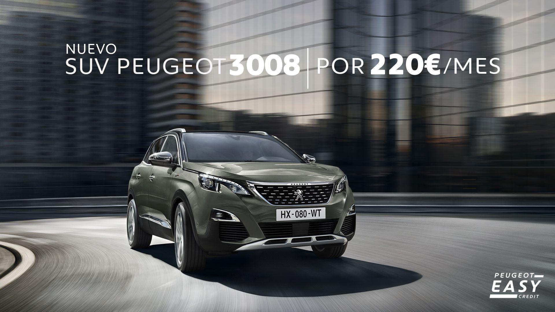 Disfruta de tu nuevo Peugeot 3008 por sólo 220€/mes