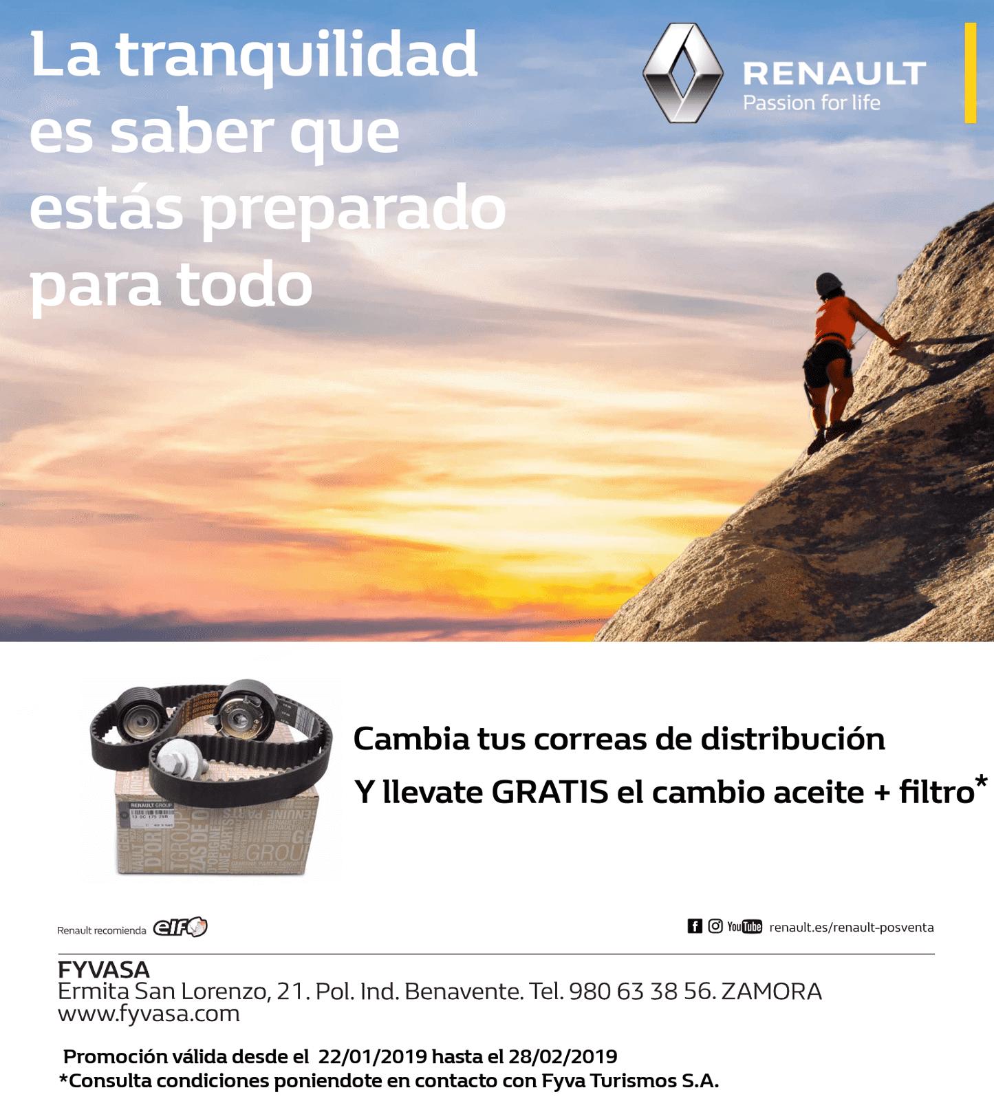 GRATIS CAMBIO DE ACEITE+FILTRO POR LA SUSTITUCIÓN DE LA CORREA DE DISTRIBUCION
