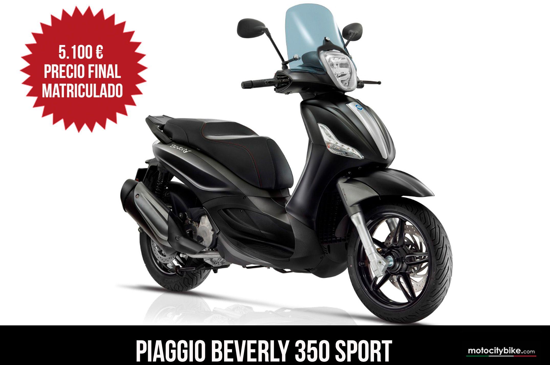 Piaggio Beverly 350 sport negra
