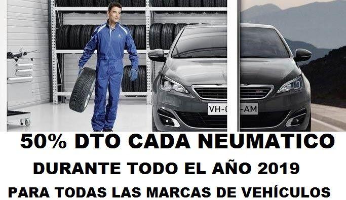 NEUMATICOS 2X1 DURANTE TODO EL AÑO 2019