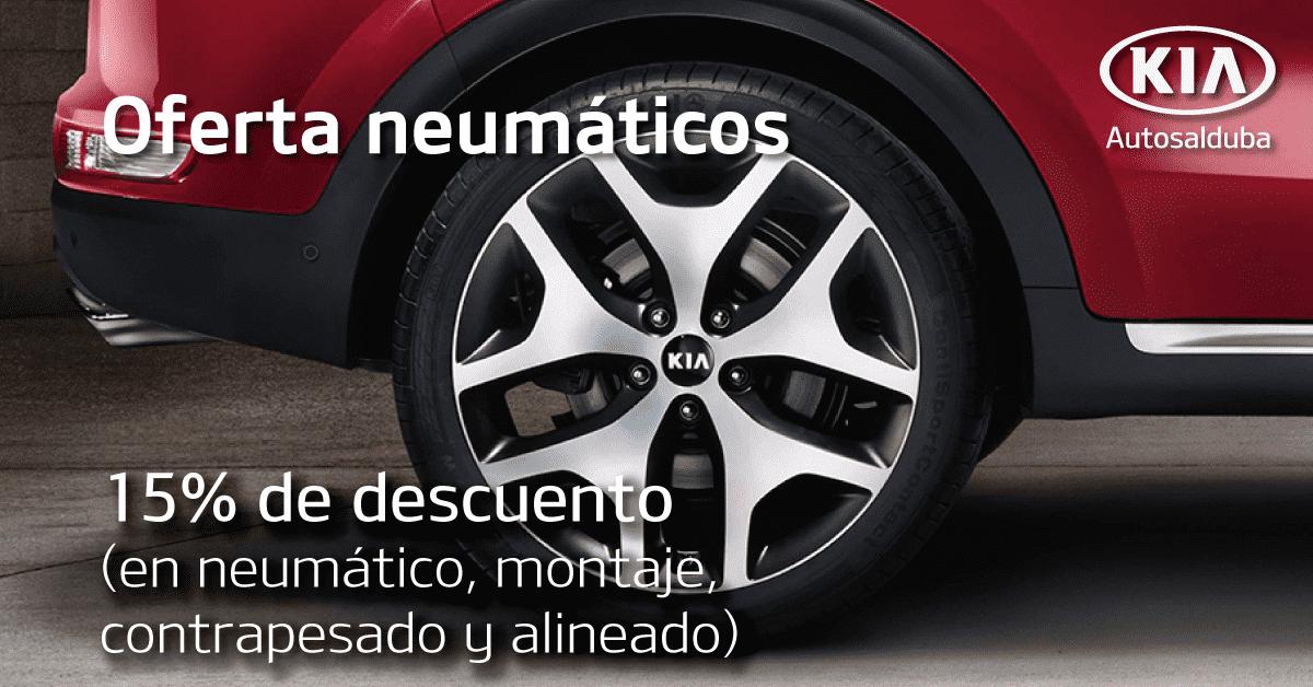 15% en neumáticos