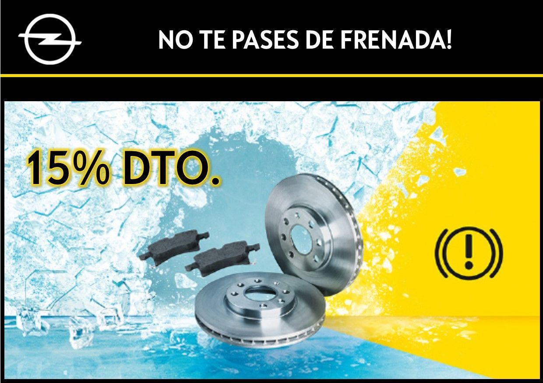 15% DTO. EN PASTILLAS DE FRENOS