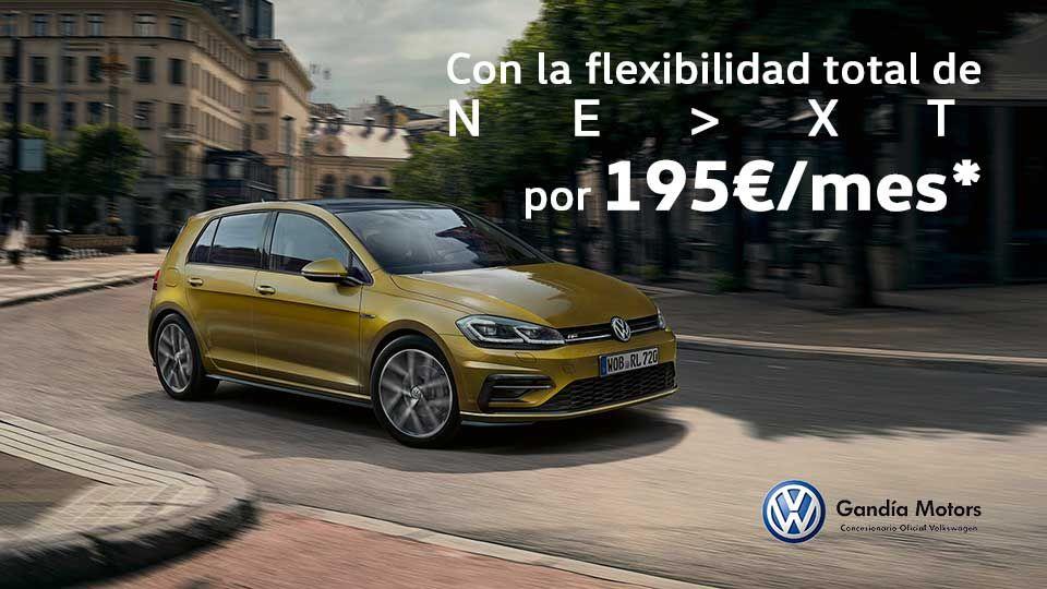 Volkswagen Golf por solo 195 euros al mes