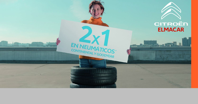 Oferta 2x1 neumáticos Continental y Goodyear