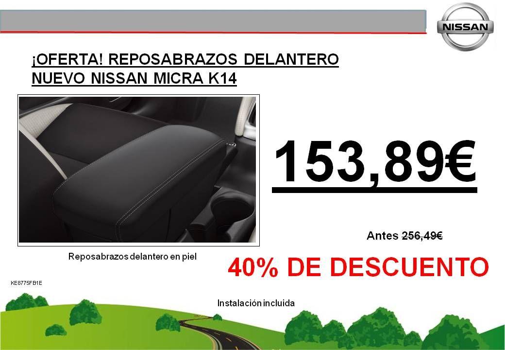 ¡OFERTA! REPOSABRAZOS DELANTERO NUEVO NISSAN MICRA K14 - 153,89€