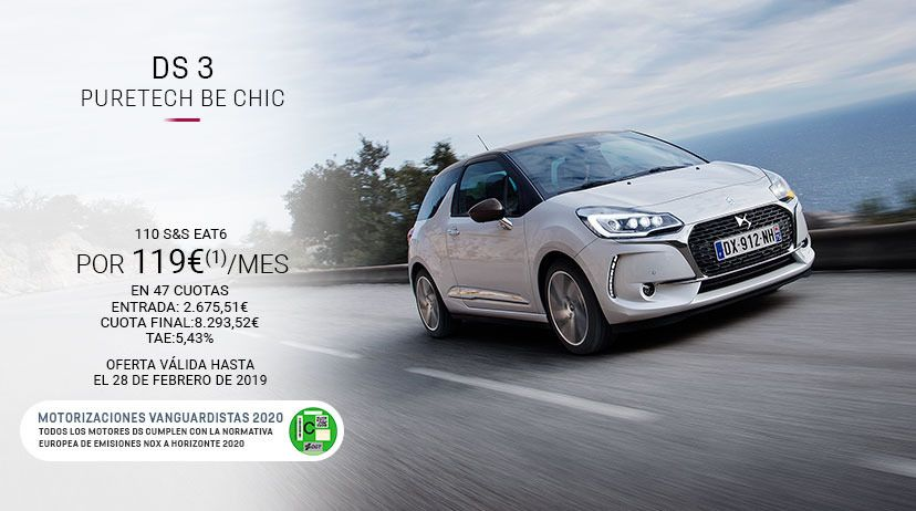 DS 3 PureTech110 S&S EAT6 BE CHIC + Pack Be CHIC
