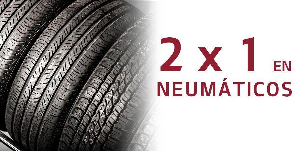 2x1 en neumáticos durante febrero