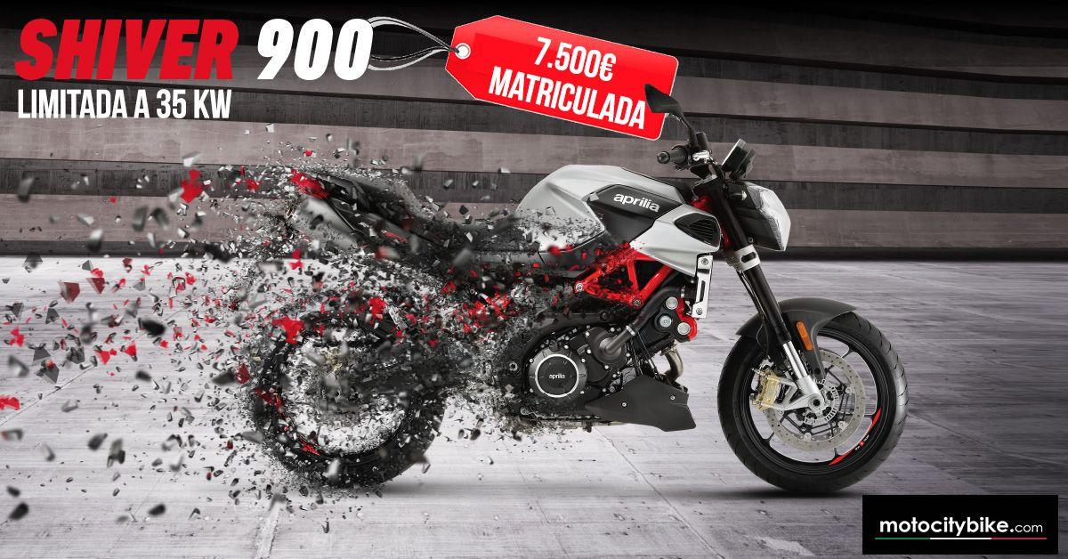 Aprilia Shiver 900 limitada a 35KW