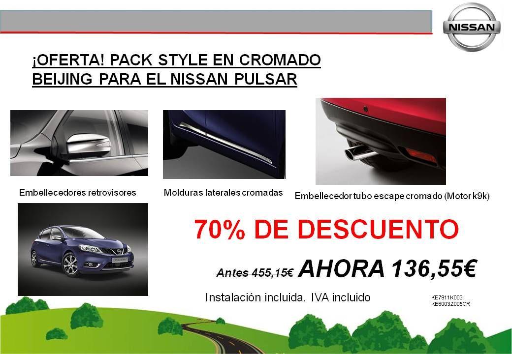 ¡OFERTA! PACK STYLE EN CROMADO BEIJING PARA EL NISSAN PULSAR - 136,55€
