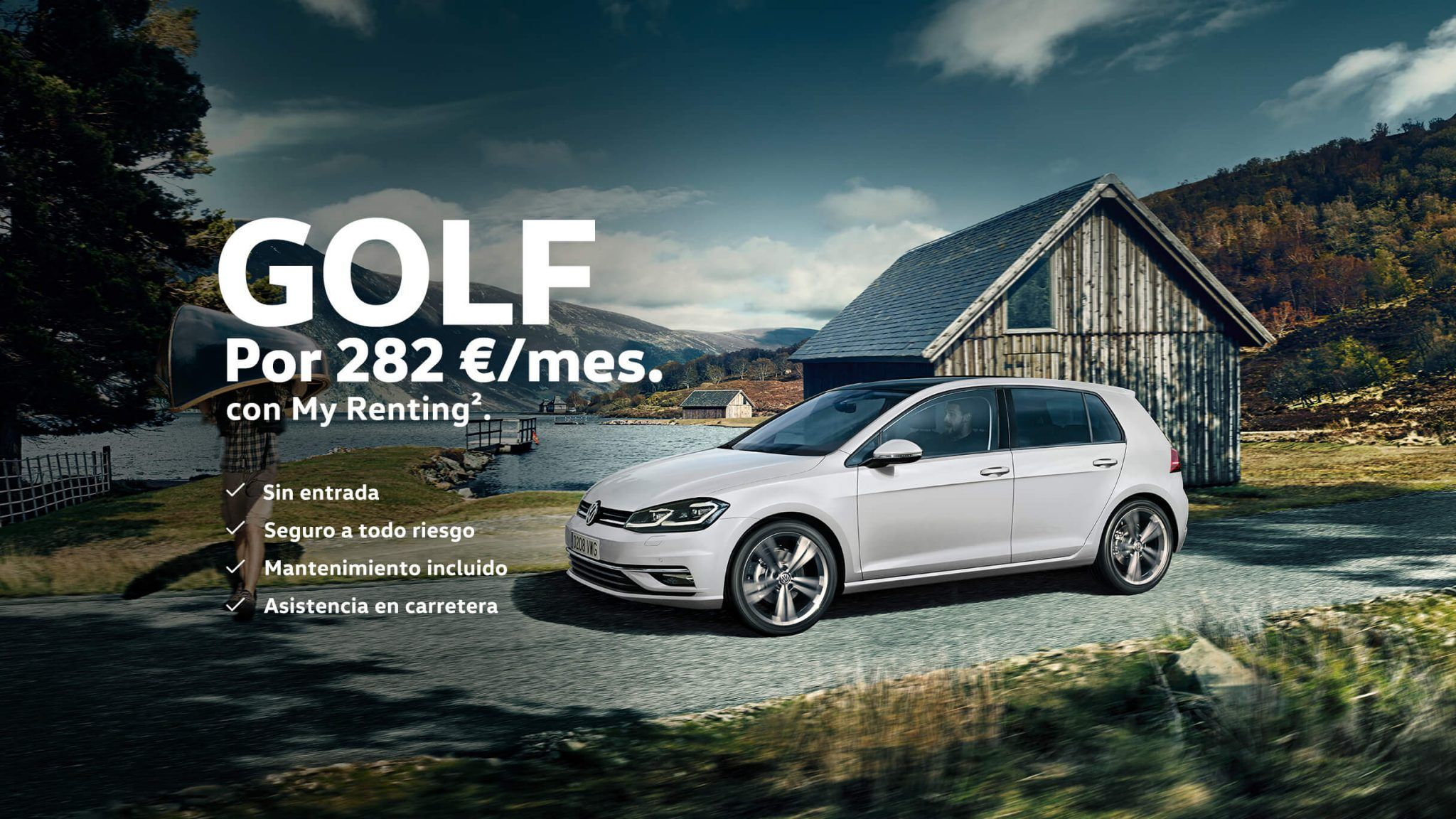 Volkswagen Golf por 282€/mes